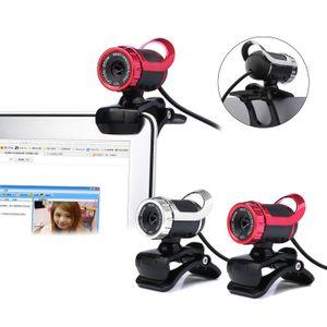 Веб-камера 0,3-мегапиксельная камера высокого разрешения веб-камеры 360 градусов Веб-камера USB MIC Clip-на для ноутбуков Desktop Computer Accessory