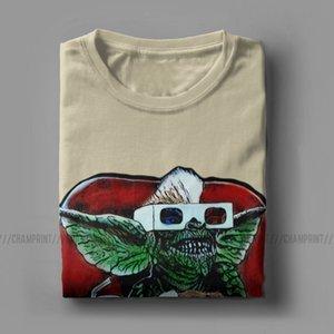 Mens T-Shirts Gremlins Humorous Cotton Tees Short Sleeve Gizmo 80s Movie Mogwai Monster Horror Retro Sci Fi T Shirts 4XL 5XL