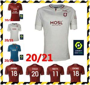 Thaïlande 20 21 FC Metz Soccer Jerseys Away 2020 2021 Boulaya Diallo Centonze Bronn Vagner Niane Fofana Vagnner Home T-shirt de football 3ème