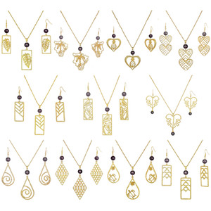 Sistemas de la joyería 14k de la hoja de oro redondo joyería de Hawai Conjunto partido de las mujeres para al por mayor Negro Perla Polinesia gente de flor