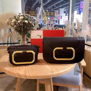 El diseñador de moda bolsa Corssbody monedero del bolso del bolso de hombro genuino ilustraciones grande de piel V Letter Hardware monedero de las mujeres del tirón cinco colores
