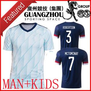 2020 2021 Scotland Soccer Jerseys 20 21 Camisetas de Fútbol Accueil McGregor McGinn Armstrong Équipe nationale Away Kids Football Shirts Thaïlande