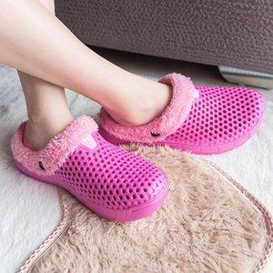 AGILESTAR Женские тапочки зима 2021 Trend Trend House House Home Мягкие нескользящие плюшевые хлопчатобумажные туфли мужская комната дамы меховые слайды для женщин # ve0n