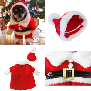 New Marry Christmas cute Pet dog clothes three-dimensional Christmas suit and hat transform clothing apparel pet supplies sell well