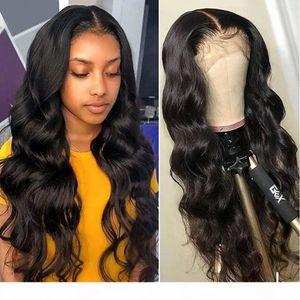 30 32 بوصة 13x4 الرباط الجبهة شعر الإنسان الباروكات للنساء السود ريمي الماليزية الجسم موجة 4x4 الدانتيل إغلاق الباروكة HD شعر مستعار شفافة