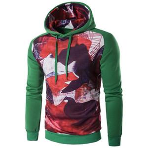 Chamsgend Men Long Sleeve Hoodie Hooded Sweatshirt Tops Jacket Coat Outwear A#487