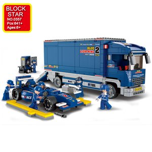 Blockstar Racing Car Series Building Blocks Racing Truck Model Block Biffult Bricks for Kid FAI DA TE Giocattoli per bambini Ragazzi per bambini Regalo di Natale