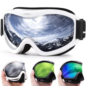 Maxjuli Marque Professionnel Ski Goggles Double Couches Lentilles Anti-Brouillard UV400 Verres de ski Ski Hommes Femmes Snow Goggles Q0107