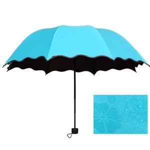 كامل التلقائي مظلة المطر النساء الرجال 3 قابلة للطي ضوء ودائم 8K مظلات قوية أطفال الأمطار مشمس مظلات 6 ألوان DHB3872