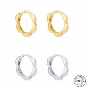 Canner Light Luxury 925 Sterling Silber Ins Gold Blase Creolen Ohrringe Für Frauen Piercing Ohrring Ohrringe Schmuck Anhänger Pendientes
