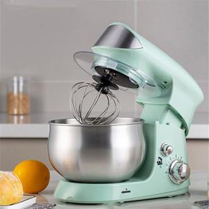 600W 220V 3.5L Paslanmaz çelik kazan 6 vitesli Mutfak Standı Mikser Krem Yumurta Çırpma Blender Kek Hamur Ekmek Yapma Makinesi