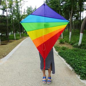 طائرة ورقية للأطفال البالغين سهلة نشرة قوس قزح الطائرات الورقية أفضل لعبة الشاطئ الصيف في الهواء الطلق لعبة دائم نايلون كايت. # IOK
