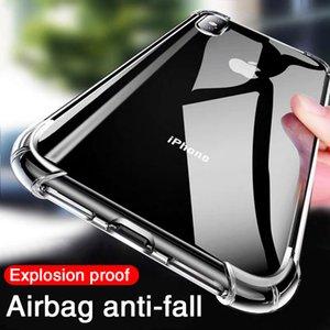 فاخر صدمات سيليكون حالة الهاتف لآيفون x XR XS 11 12 برو ماكس 7 8 6 6 ثانية زائد XR 11CES غطاء حماية شفاف