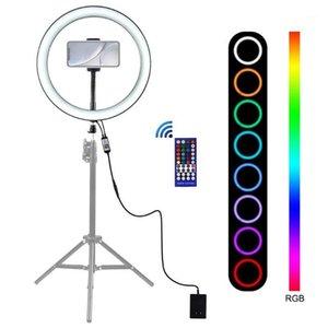 LEDs Video Ringkamera Flash Light BT Anschluss Fernbedienung Helligkeitseinstellung Selbstblitzlampe für Selfie Facially Makeup1