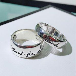 Flower and bird ring s925 Thai silver couple Blind for love letter ring
