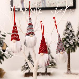 Natale fatto a mano senza volto bambola Tomte di Santa Nisse Nordic peluche Elf giocattolo Tabella Ornamento Albero di Natale Decorazione