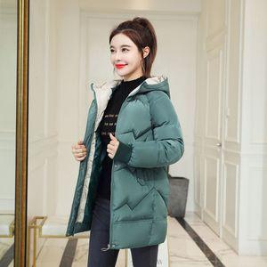 Dmlfzmy Jackets 2020 Fashion Women Winter Coat Long Slim Thicken Warm Down Cotton Padded Jacket Outwear Parka