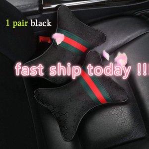 2 Pz Car Pillow Seat Seat Poggiatesta cuscini per auto di alta qualità copertura di calette della cintura di sicurezza del volante copertura cuscini rosa per BMW per Be