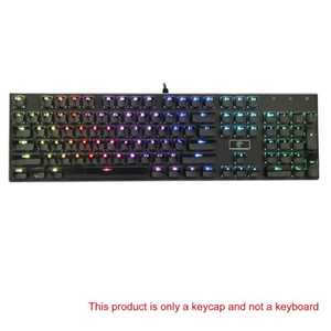 104 Keys Layout Low Profile Keycaps Set for Mechanical Keyboard Backlit Crystal Edge Design Cherry MX With Key Caps Puller LX9A