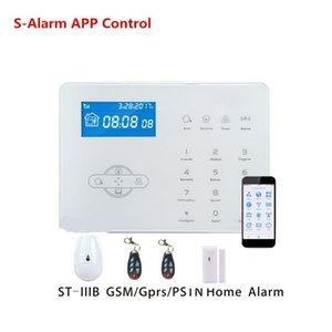 433mhz английский французский Голосовые подсказки ST-IIIB 32 беспроводной зоны PSTN GSM сигнализация Smart Security Home Alarm System App Remote Control