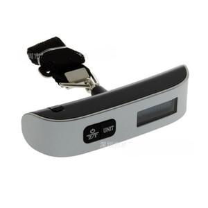 Мода Горячий портативный ЖК-дисплей Электронные висит Цифровой весы багажа 50 кг * 10 г 50 кг / 110 фунтов веса 166 G2