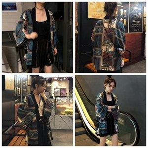 Mulheres Blusas Camisas Mulheres Praia Estilo Cardigan Kimono Senhoras Impressão Retro Verão Moda Solcreen Lace Up