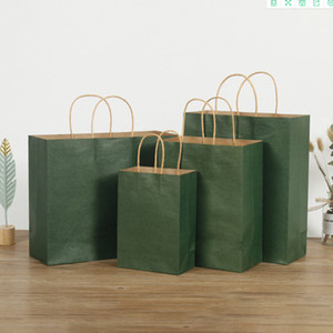 Takeaway doggy bag Kraft paper tote bakery dessert bag supports custom color specification and logo size32*12*27