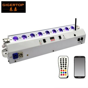 TIPTOP 6in1 9 x 18W RGBAW UV 6in1 alimenté par batterie sans fil LED laveuse lumière, scène mur lumière blanche logement Téléphone Remote App