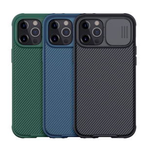 Nillkin Camshield Case pour Apple iPhone 12 Pro Max Samsung Galaxy S20 S21 Plus Remarque 20 Ultra Camera Lentille Couverture de protection
