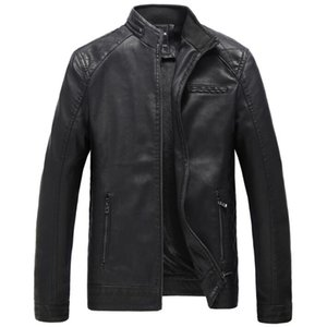 Men's synthetic leather jacket\