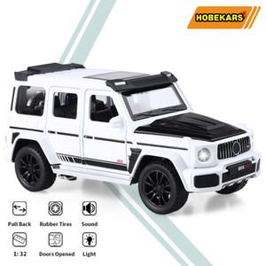 HBEKARS 1:32 Diecast Model Araba Oyuncak Araçlar Alaşım Metal G700 Koleksiyon Dekorasyon Için Simülasyon Lüks Ticari Araç LJ200930