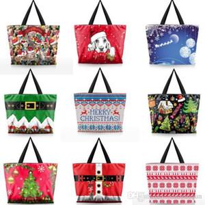 9 styles Merry Christmas cartoon Shoulder Bag Handbags Girls Storage Bag Casual Tote Bag Large Capacity Shopping Bags Xmas gift