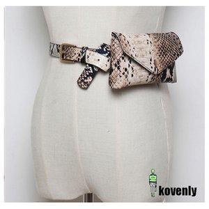 HBP المرأة فاني حزمة خمر أفعواني الخصر حزمة جودة عالية بو الجلود الهاتف الحقيبة أزياء الأفعى الجلد الخصر