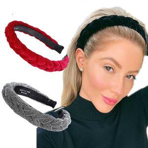 Hair Accessories Wide Shiny Weaving Hairbands Braided Headband Hair Hoop Fashion Hair Bands Bezel Headdress
