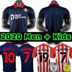 2020 2021 Sunderland футбол Джерси HOME Эмблтон Фини 20 21 Graham Wembley О'Брайен Гуч MAGUIRE Men + дети комплект набора прочь футбольные рубашки