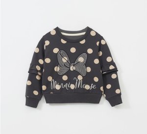 Children's sweater spring and autumn new bow jacket anime pullover blouse polka dot Western thin 7-year-old