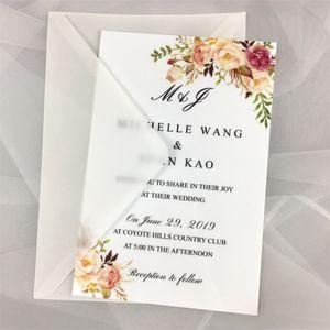 """Ücretsiz kargo 50x 13x9.5 cm (5.11 """"x 3.7"""") 120g inci kağıt zarf sedefli vellum davetiye tebrik kartı posta kartı için 201214"""