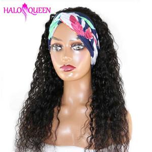 HALOQUEEN волна воды парики Glueless трясти голову парик волна воды человеческих волос Парики с челкой Brizilian волос Remy Плотность 150%