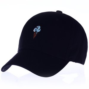 VORON Men Women Causal Ice Cream Embroidery dad cap men women Curved Strapback Baseball Cap Hat Adjustable newX1016