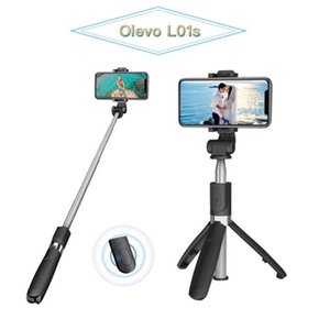 Olevo All in 1Selfie Stick L01S Rotatable Foldable Solid Tripods Monopod Expandable Bluetooth Remote Control for Mobile Camara