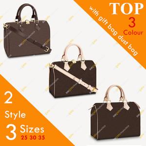 Дамы Мода Высококачественная Скоростная сумка Bag Flower Checkerboard Сумка Messenger Bag Boston Bag M41112 Размер 25 30 35 Бесплатная Доставка