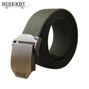 Belts YBT Male Tactical Belt Top Quality 4 Mm Thick 3.8 Cm Wide Casual Canvas Outdoor For Men Automatic Buckle