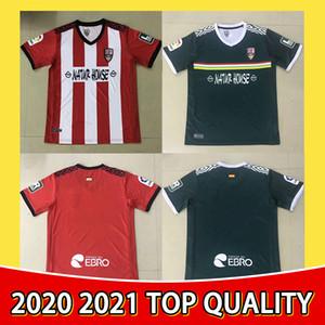 20 21 Ud Logroñés Futebol Jerseys Andy Inaki errasti Zelu Vitória 2020 2021 Logrones Camisetas de Fútbol Camisa de futebol