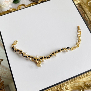 Fashion brand designer pearl chokers necklace for women Party Wedding Lovers gift luxury jewelry for Bride With BOX