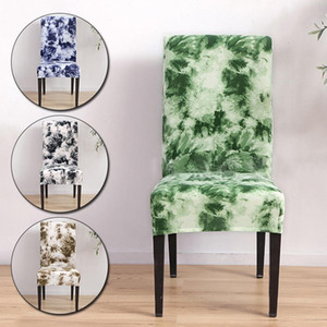 Modern Printing Spandex Chair Cover Elastic Seat Slipcover Removable Anti-dirty Chair Protector for Kitchen Hotel Decorations
