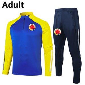 2020 2021 Колумбия мужчин футбол Tracksuit наборов взрослого футбол беговой куртка брюки Survetement спорт зима футбол тренировка костюм Бег наборы