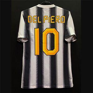 Retro 95-03 11/12 Futbol Formaları Zidane Del Piero Pirlo Vialli Trezeguet Vieri Inzaghi Salas Nedved Boksic Vintage Kitleri Klasik Gömlek