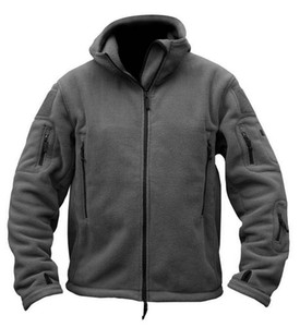 Jacket Man Tactical Softshell Fleece Jacket Outdoor Thermal Sport Hiking Hooded Coat Outerwear Army Clothes