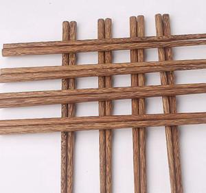 Los palillos de madera natural sin estilo clásico de laca Cera vajilla vajilla china reutilizable Natural Sushi Palillos KKA8157