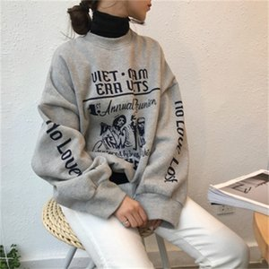 Hot Sale INS Super Fire Early Autumn Polo Hoodie Campus Smell GIRL'S Hip Hop Lazy Chic High-waisted on Clothes